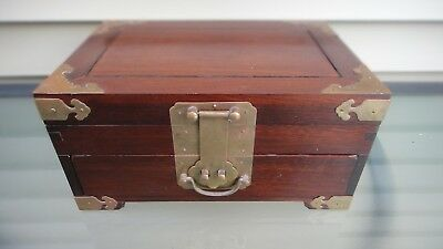 Fine Antique 19C Chinese Export Huanghuali Jewelry Box