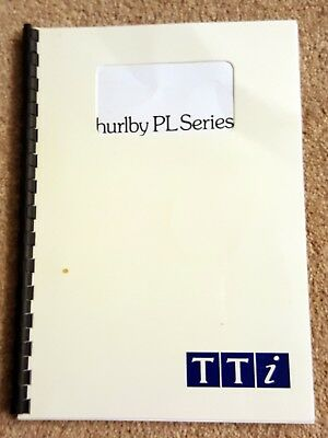 Thurlby PL Series Power Supply Instruction Manual