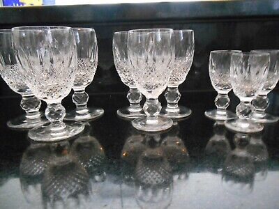 LOT (9) Waterford Colleen Glasses (4 1/4 wine; 4 1/2 wine; cordial-3 of each)