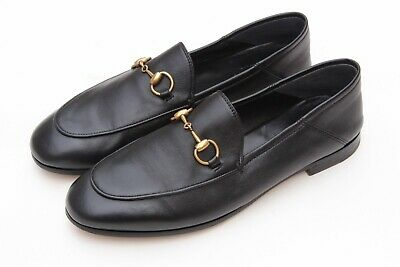 bdb93fa0f4b GUCCI  Brixton  Black Leather Horsebit Convertible Women s Loafers Sz 37  7
