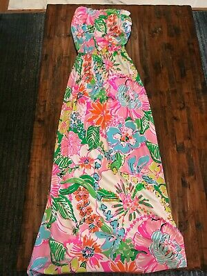 30d61bbf47f9 LILLY PULITZER FOR TARGET Strapless Nosey Posey Maxi Dress XS NEW WITHOUT  TAGS