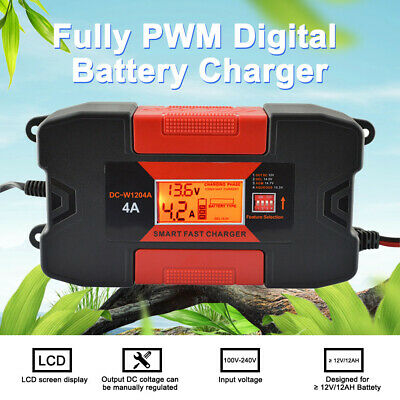 4A 12V Auo Car Smart RoHs Battery Charger With CE M0O1