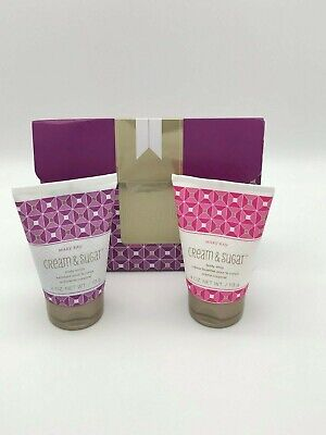 Mary Kay Body Gift Set Cream & Sugar Body Scrub 4 OZ. & Body Whip 4 OZ. NIB!