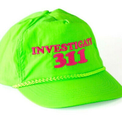 Eric Andre Show Investigate 311 New Snap Back Trucker Hat Adult Swim. Sold Out!