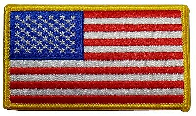 """American Flag Embroidered Patch 3.5x2"""" -- Patriotic Pride USA"""