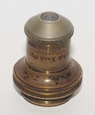 Vintage Brass Bausch & Lomb Series I 1/2 0.36 N.A. Tube Length 160mm Objective