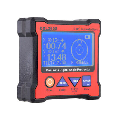 DXL360S Dual Axis Digital Angle Protractor Inclinometer LCD Display EU Plug P8R5