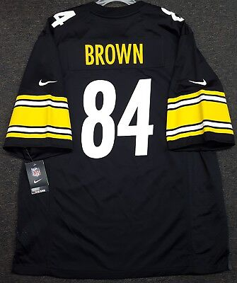 67134d78a75 Pittsburgh Steelers Antonio Brown Mens Nike Game Jersey  84 Authentic Nfl  Nwt