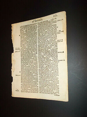 1569-Bishops'-Bible-2nd Edition-Quarto-Lamentations of Jeremiah- Chapter 3 and 4