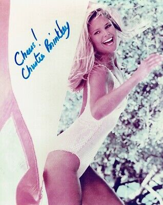 CHRISTIE BRINKLEY - Signed colour photograph