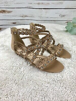 002e1b66b80d NEW Sam Edelman Dustee Womens 8.5 M Tan Suede Studded Gladiator Sandals  120
