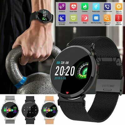 Sport Smart Watch Bluetooth Oxygen Blood Pressure Heart Rate Monitor Android iOS