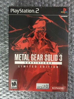 Metal Gear Solid 3 Subsistence Limited Edition. BRAND NEW. Sealed. PS2