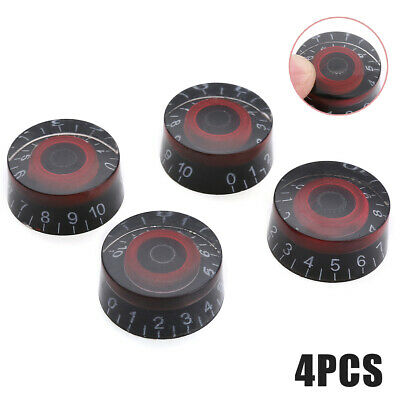 4Pcs Speed Control Knobs Volume Tone Buttons For LP Electric Guitar Bass Accs US