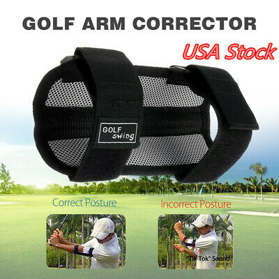 Golf Swing Trainer Elbow Brace Support Corrector Practice Training Aid USA