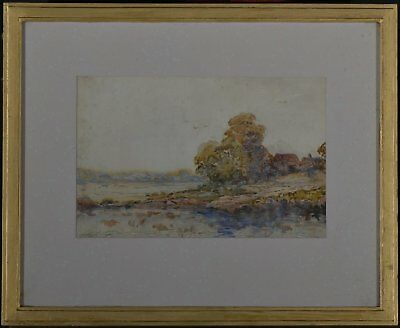 Anthony Thieme Signed Beautiful Framed Original Watercolor Painting Dated 1925