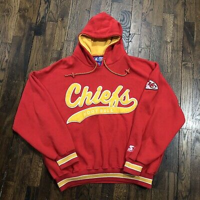 competitive price 9fe4a db5e4 VINTAGE 90S NFL Starter Kansas City Chiefs Hoodie Sweatshirt Pullover Sz L  VTG
