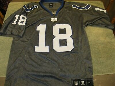 Wholesale NEW VINTAGE PEYTON Manning Indianapolis Colts18 NFL Football Gray  for sale