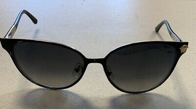 609cc4f77d68 Versace Cat Eye MOD 2168 1377 T3 Gold   Black Polarized Sunglasses Pre-owned