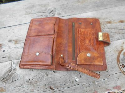 Superbe Pochette Cuir Homme Vintage Collector Look D'enfer A 11€ Ach Imm Fp Red