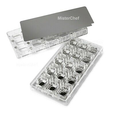 MisterChef® 15 rectangle MAGNETIC chocolate mould choc sweet candy DIY mould