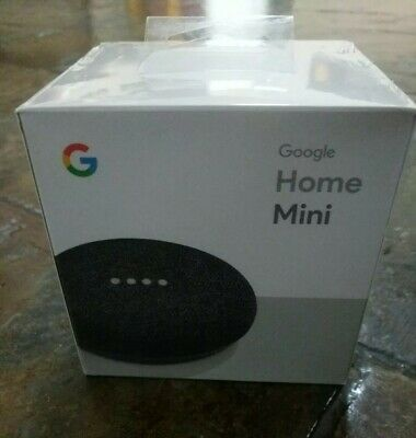 Google Home Mini Smart Speaker & Home Assistant - Charcoal BRAND NEW/SEALED