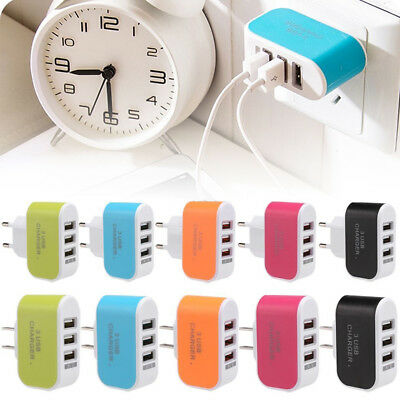 Multiple 3Port USB Travel Wall Charger AC Power Adapter For iPhone Samsung NEW