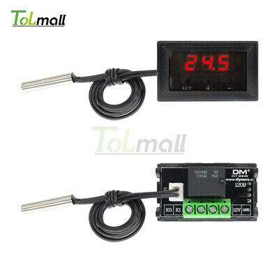 12V Digital Thermostat -50-110°C W1209 Temperature Controller Switch Sensor+Case