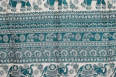 Sarong Green And White Elephant Design Just Arrived Style 44/0317