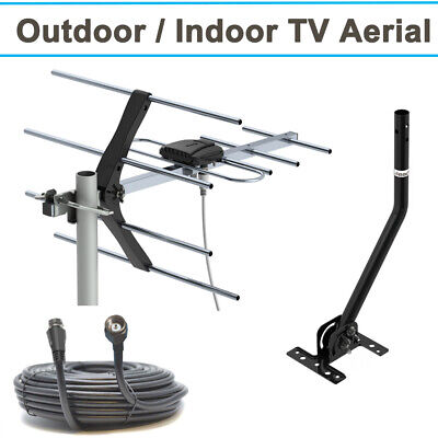 Outdoor TV Aerial 4G Filter Freeview HD Install Loft Digital Antenna 10M Cable
