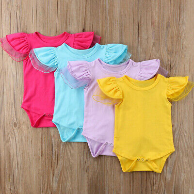 Summer Newborn Baby Girl Clothes Short Sleeve Romper Jumpsuit Cotton Outfits
