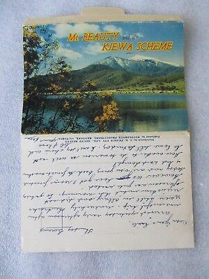 Vintage Nu-Color-Vue Foldout Colour View Folder, Mt Beauty and Kiewa Scheme