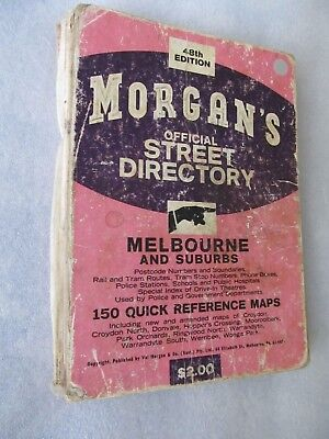 Vintage Morgan's Official Melbourne Street Directory (48th Edition)