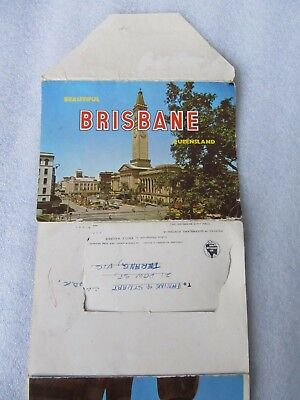 Vintage Sydney Hughes Foldout Colour View Folder, Brisbane Queensland