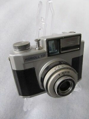 Interesting Vintage 1960's Bencini KOROLL III - 120 roll film camera - Italy
