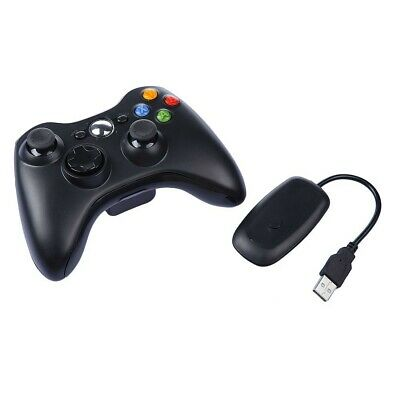 Wireless Xbox 360 Black / White Controller Remote Windows PC with USB receiver