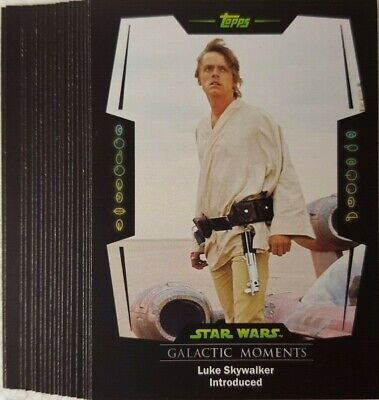 STAR WARS Card TRADER Card set of 20 GALACTIC MOMENTS topps PHYSICAL GM - 1..20