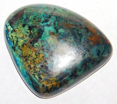 Azurite 95Cts. Natural Fancy 1Pcs 44x36MM Cabochon Loose Gemstone 15810