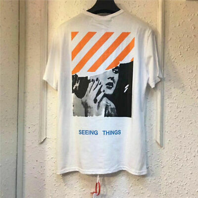 5f286031d16f NEW OFF-WHITE C O Virgil Abloh Men s Short Sleeve T-Shirt Cotton ...