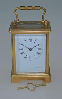 French 8 Day Antique Brass Carriage Clock with winding key – Discala Biarritz