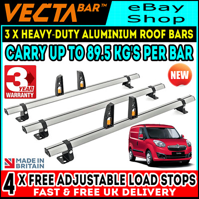 Iveco Daily Roof Rack 3 Bars With Rear Roller Van 2014-2020 Rhino H2-MEDIUM