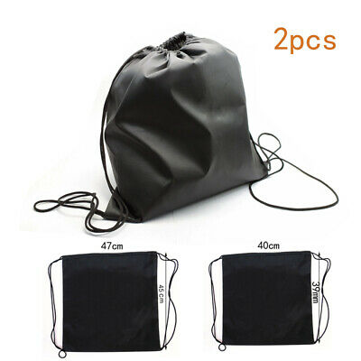 2X Black Draw pocket For Motorcycle Scooter Bicycle Helmet Lid Protect Bag