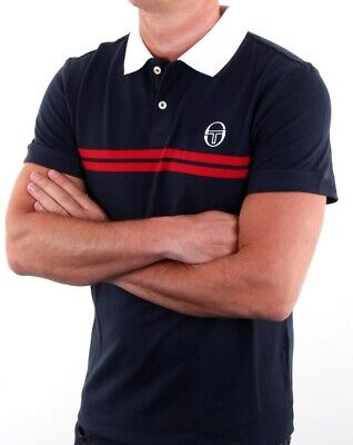 d4beb1b3 SERGIO TACCHINI SUPERMAC Polo Shirt in White, Royal & Red - short ...