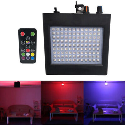 108 RGB LED Strobe Light Disco Bulbs Auto Sound Activated DJ Party Lights+Remote