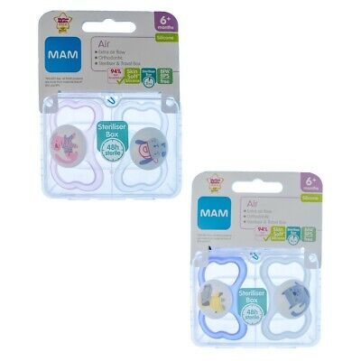MAM Air Soother Twin Pack 6m+ CHOICE OF DESIGN BOY/GIRL (A142)