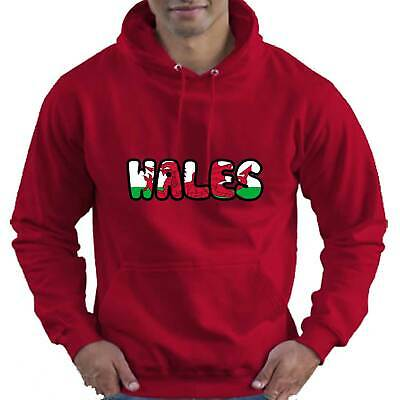 Wales Welsh Flag Childrens Childs Kids Boys Girls Hoodie Hooded Top