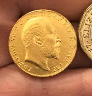 RESTRIKE 1902 Or 1904 Full Sovereign Edward VII Gold Coin Gold Plated