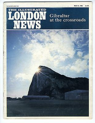 1966 ILLUSTRATED LONDON NEWS Gibraltar COOPER v. CLAY Seamen Union Strike (6166