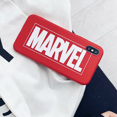 MARVEL Frosted Antiskid TPU Phone Case Cover For iPhone X XS Max XR 6 7 8 Plus