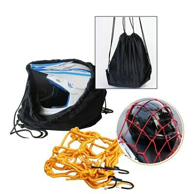 Motorcycle Crash Helmet Net + Lid Protect Bag Draw pocket Basketball bag 47x45cm